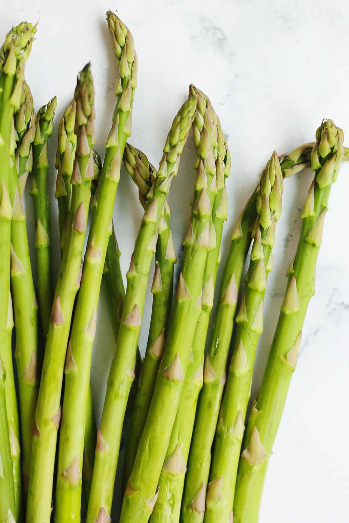 Asparagus spears close up