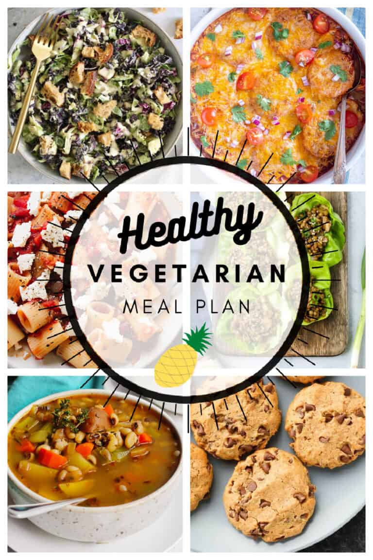 Healthy vegetarian meal plan week 6/52