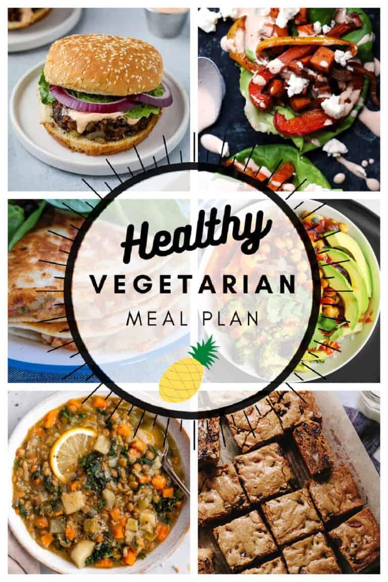 Healthy vegetarian meal plan week 7/52