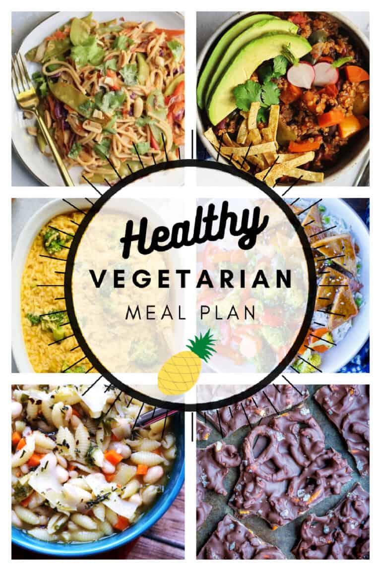 Healthy vegetarian meal plan week 9 collage
