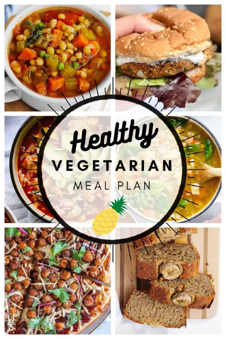 Healthy vegetarian meal plan week 10/52 graphic