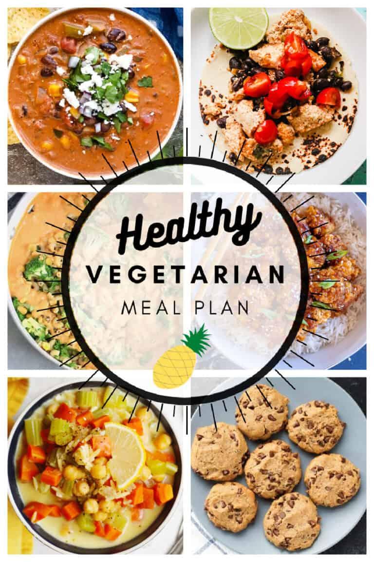 Healthy vegetarian meal plan week 11 graphic