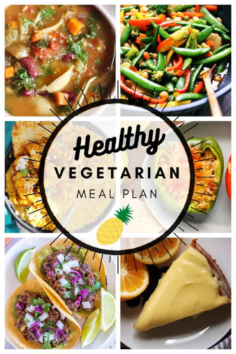 Healthy vegetarian meal plan week 12/52 collage