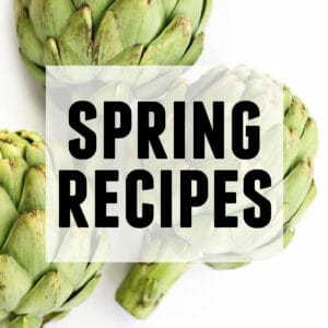 Spring recipes category with text