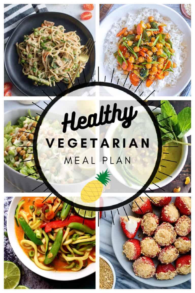 Healthy vegetarian meal plan week 16/52 collage
